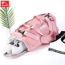 Sport Fitness Gym Bag Shoe Compartment Men Women Bags Summer Travel Outdoor Crossbody Shoulder Pink Handbag Sac De
