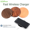 [UGpine Qi Fast Wireless Charger] ,Original Wooden Design Wireless Charging Pad For Samsung Galaxy S6/S7 Edge Plus Note5