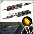 Auto bombilla LED lado, lado de luz led para BMW E81 E82 E87 E88 E90 E91 E92 E60 E61 LED Marcador Lateral de La Lámpara para BMW humo/con M logo