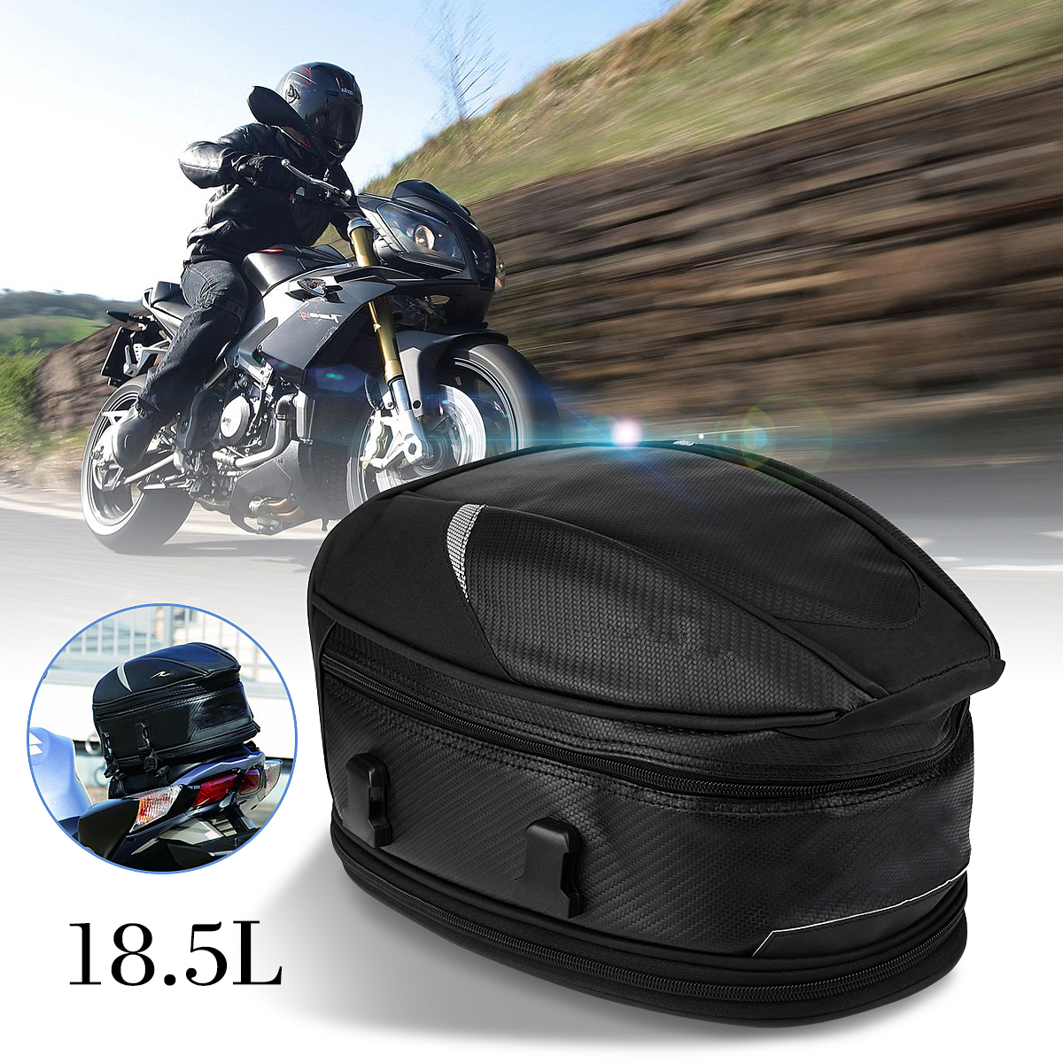 купить Autoleader Waterproof Motorcycle Bag Rear Sport Back Seat Bag Motorbike Tail Tool Bags Scooter Helmet Pack по цене 2258.88 рублей
