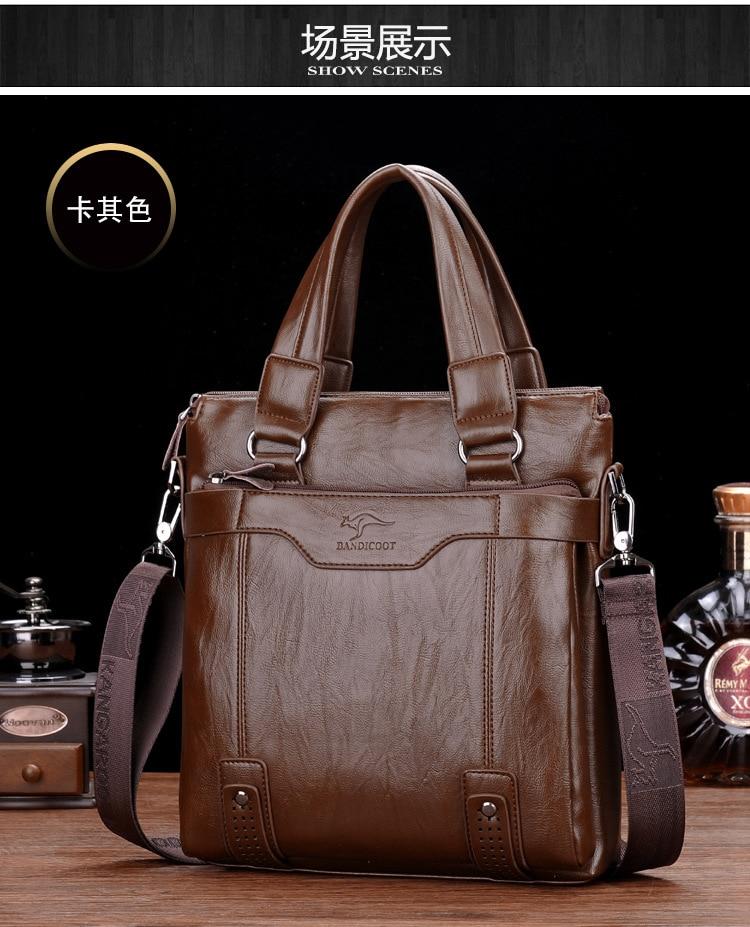 ZYJ Men\`s Business Leather Shoulder Laptop Briefcase Bags Sling Travel Messenger Portfolio Bag Causal Bolsa Lawer Handbag (44)
