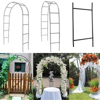 DIY Iron Wedding Arch Decorative Garden Backdrop Pergola Stand Flower Frame For Marriage birthday wedding Party Decor