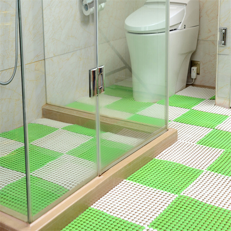 Us 11 55 48 Off Beibehang 1set Of 3pcs High Quality Creative Pvc Mats Diy Bathroom Mats Toilet Shower Foot Pad Can Be Cut Home Hotel Dedicated In