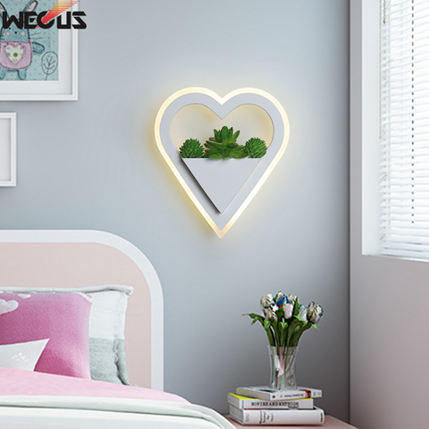 wecus nova arte planta luz de parede