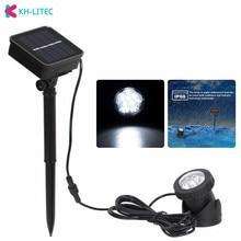 KHLITEC Solar Spotlights 6 LED Underwater Projection Lights Outdoor Lighting ip68 Garden Pond Pool Fishing Boat Spot Lamp Light