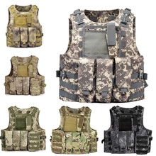 цены Airsoft Military Shooting Vest Molle Waistcoat Armor Hunting Vest  Tactical Combat  Gear Wargame CS Protective Vests