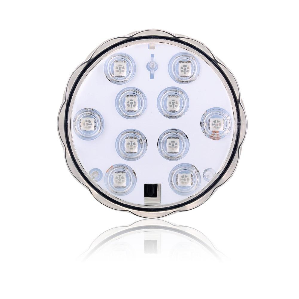 1 * 10-LED RGB submersible LED, Multi couleur imperméable Base de - Éclairage festif - Photo 6