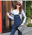 Womens Jumpsuit Denim Overalls 2017 New Designer Spring Autumn Casual Loose Pockets Jeans Pants Plus Size B570