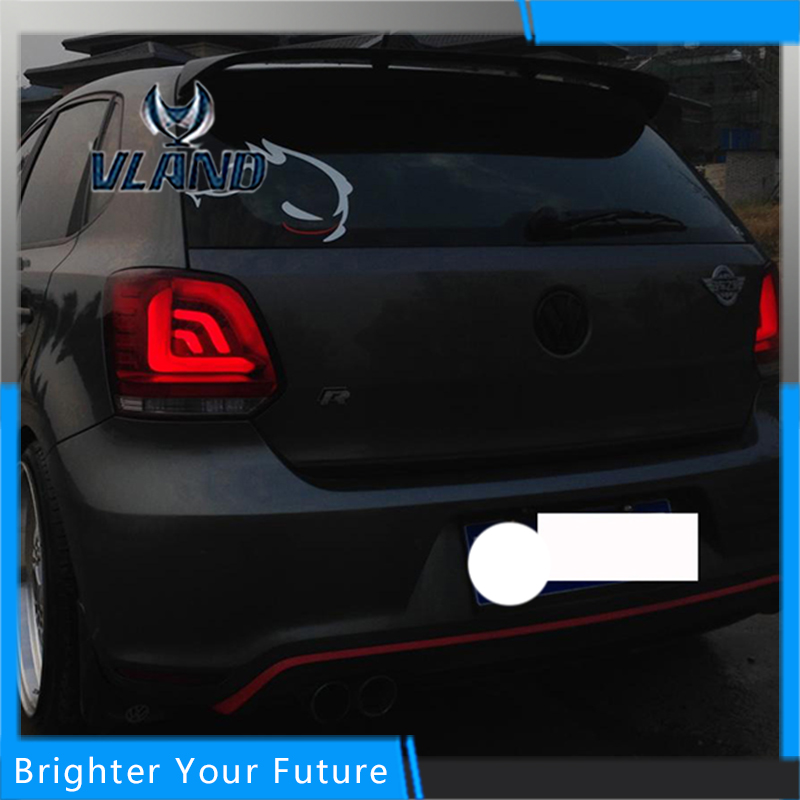 Tail Lamp for Volkswagen Polo 2010-2015 Lightbar Taillight Rear Lamp Parking Brake Turn Signal Lights hireno tail lamp for mercedes benz w220 s280 s320 s350 s500 s60 1998 05 led taillight rear lamp parking brake turn signal light