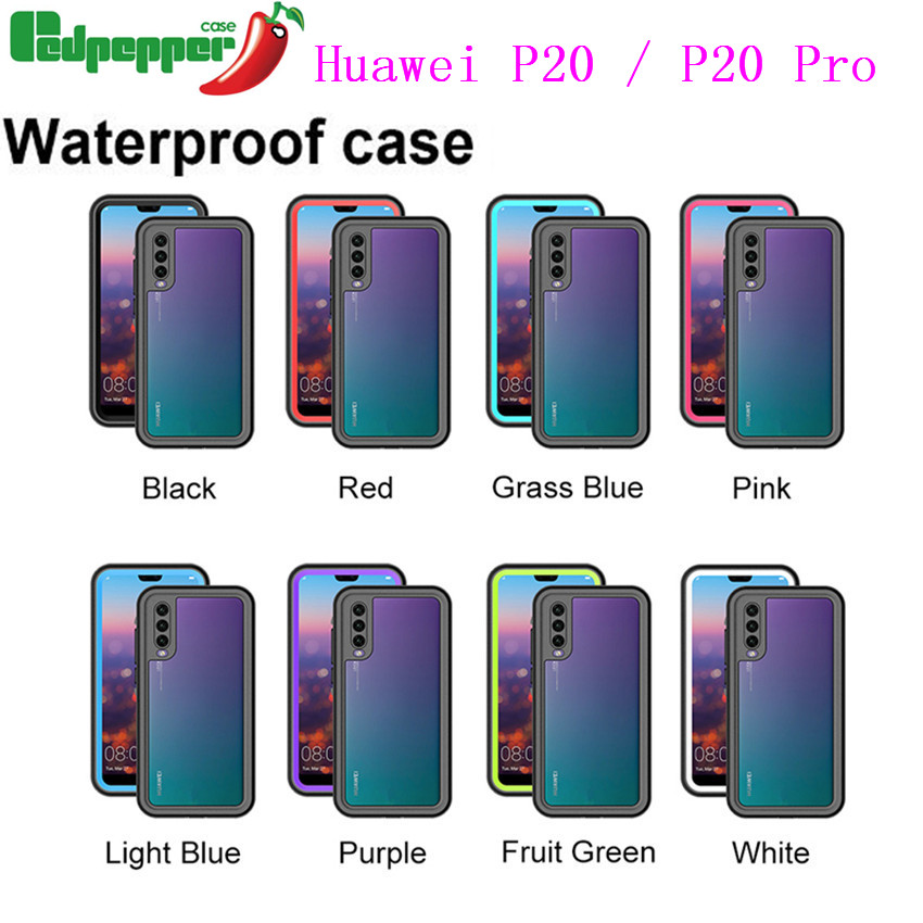 size 40 a9697 585ad US $13.38 35% OFF|Waterproof Case For Huawei P20 pro Case Shockproof  Transparent 360 Full Cover For Huawei P20 Diving Underwater Shockproof  Case-in ...