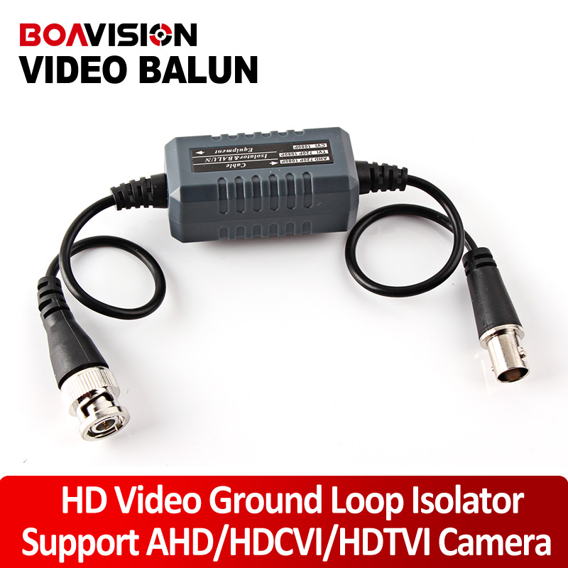 New HD Coaxial Video Ground Loop Isolator Built In Video Balun Compatible With CVI 1080P,TVI 720P/1080P,AHD 720P/1080P press fitterminal upside the balun for easier installation color video hd cvi tvi 720p up 300m with passive receiver