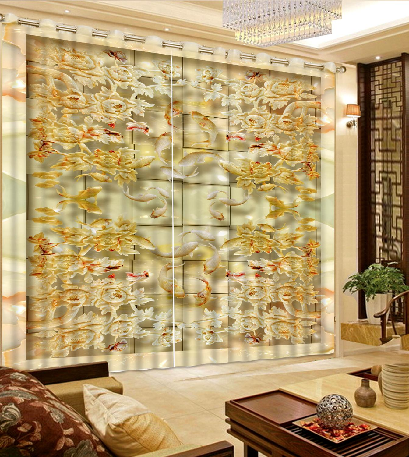 customize 3D curtain blackout for bedroom living room Jade tile mosaic window curtain Home Decorationcustomize 3D curtain blackout for bedroom living room Jade tile mosaic window curtain Home Decoration