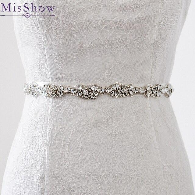 Wedding Bridal Sash Belt Crystal Dress Sash Rhinestone Prom Wedding
