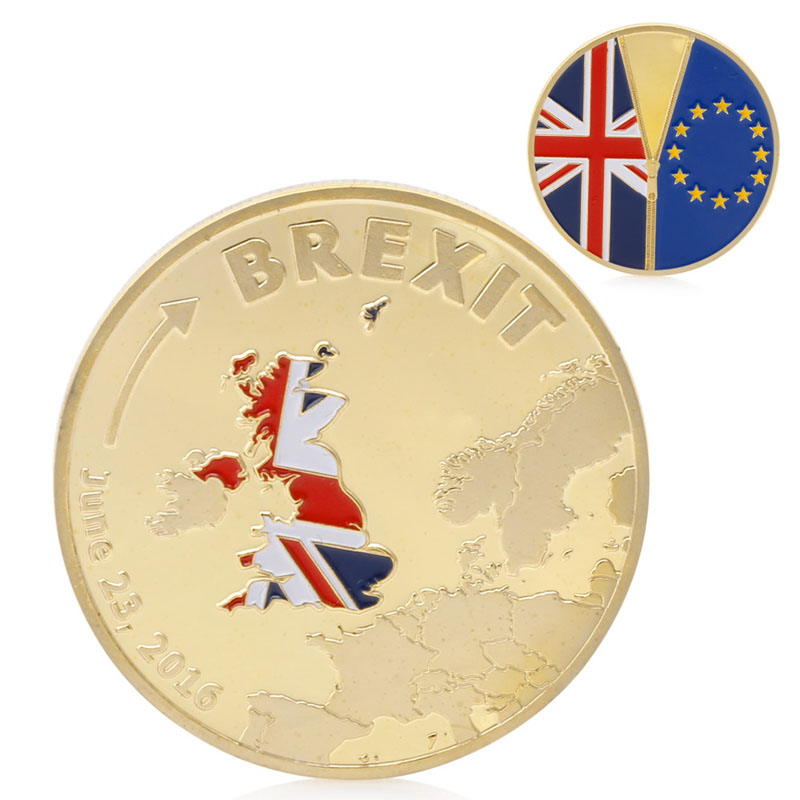 Coins 2017 Brexit Commemorative Coin Plated Gold Slivery Coin Collection Physical Gift New #20/12