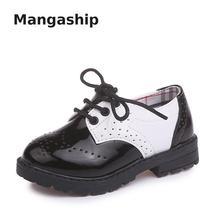 Г., детская кожаная обувь для мальчиков, для выступлений, передний Ремень, модная, из лакированной кожи, дышащая, нескользящая детская обувь для девочек