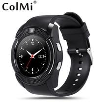 ColMi Bluetooth Smartwatch VS24 Für IOS Android Telefon Runden Bildschirm Anrufe IPS SMS Bluetooth Controll Musik PK Q90 Q50 Smartwatch