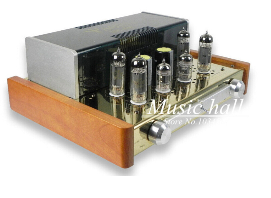 YAQIN MC-84L EL84 Vacuum Tube amplifier integrated amp Integrated headphone amplifier Class-A hifi tube amp 110V/240V free shipping yaqin ms 6v6 class a tube integrated headphone amplifier