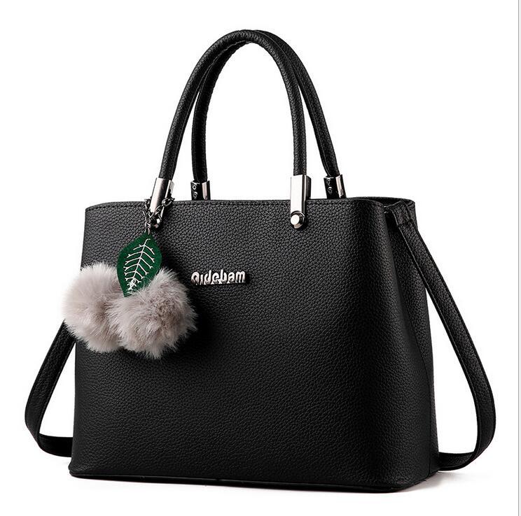 RUILANG Womens Designer PU Leather Shoulder Bag Female Fashion Crossbody Bag Ladies Briefcase Tote Bag Fashion Office Handbag