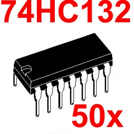 ( 50 pcs/lot ) 74HC132 Logic IC, DIP Package, CMOS.