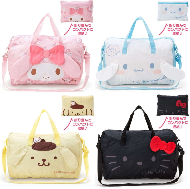 New Hello kitty Melody pudding dog portable folding Luggage Bag