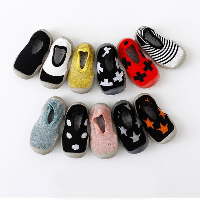Del fumetto del bambino anti-skid calzini del pavimento, la primavera e l'estate della stampa del leopardo per bambini scarpe con suola in gomma, bambino toddlers'shoes e calzini 1