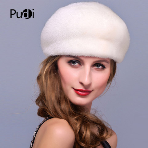 HM005 Winter hats for women Real genuine mink fur hat winter women's warm caps whole piece mink fur hats aetrue beanie women knitted hat winter hats for women men fashion skullies beanies bonnet thicken warm mask soft knit caps hats