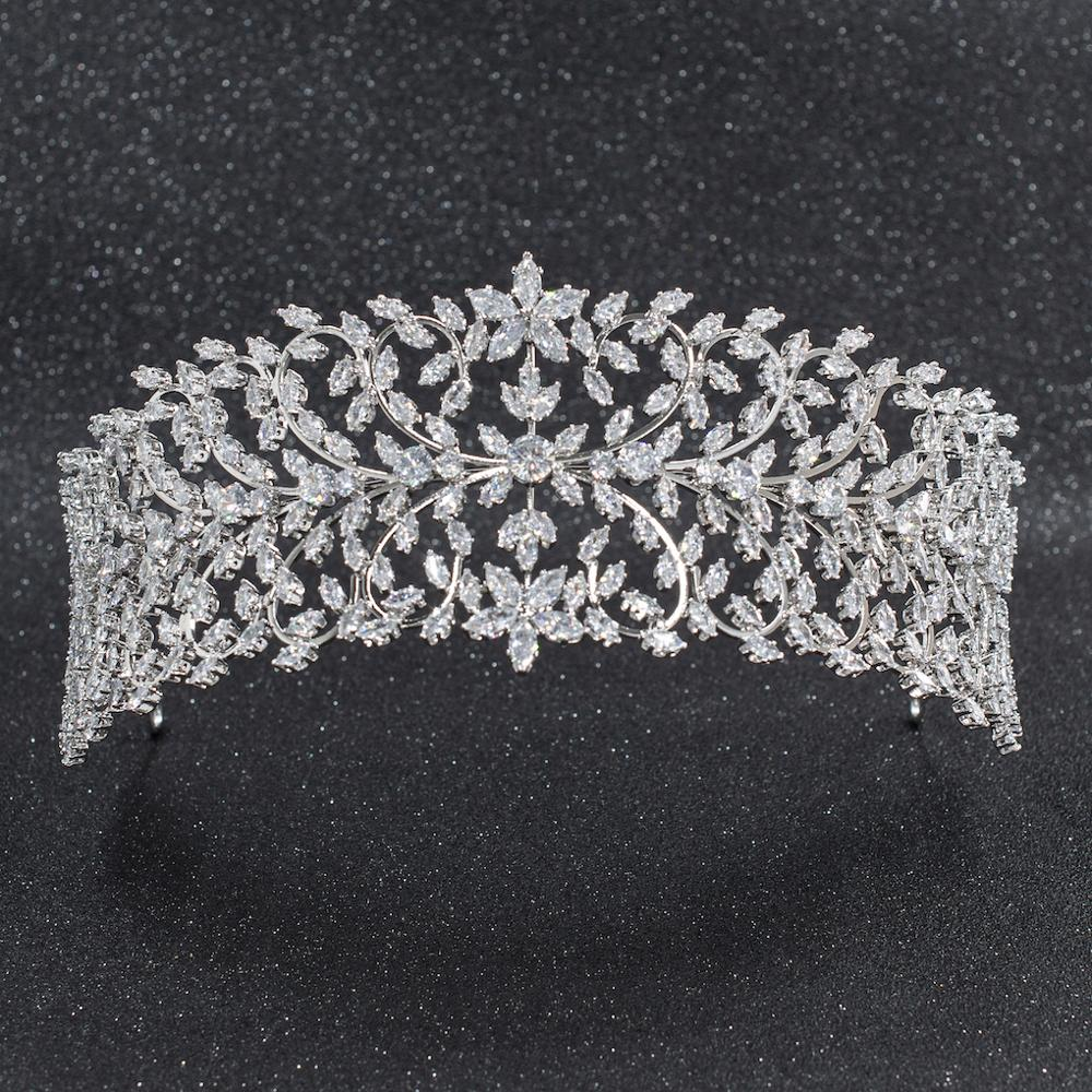 2019 New Crystal Cubic Zirconia Bridal Wedding Soft Leaves Headband Hairband Tiara Hair Jewelry Accessories Hairpieces CHA10006