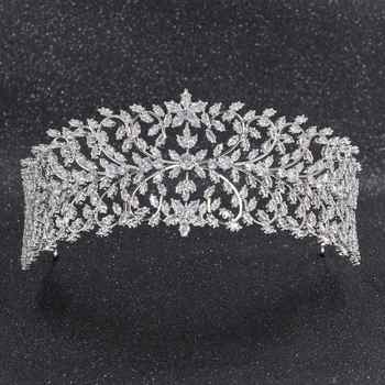 2019 New Crystal Cubic Zirconia Bridal Wedding Soft Leaves Headband Hairband Tiara Hair Jewelry Accessories Hairpieces CHA10006 - DISCOUNT ITEM  29% OFF All Category