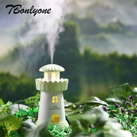 TBonlyone 150ML Tower Humidifier With Warm Lamp Essential Oil Ultrasonic Electric Aroma Diffuser Mini USB Air