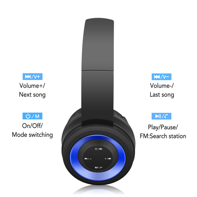 Memories Music Bluetooth earphone headphones sport Support TF card FM radio AUX with microphone best headphone wireless blue red