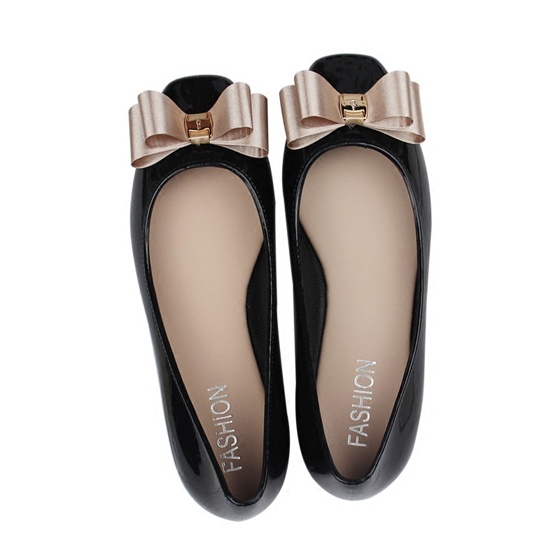 2017 new fashion women rounded toe flats bowknot sweet jelly shoes casual female flats comfortable plus size:36-40 new 2017 spring summer women shoes pointed toe high quality brand fashion womens flats ladies plus size 41 sweet flock t179