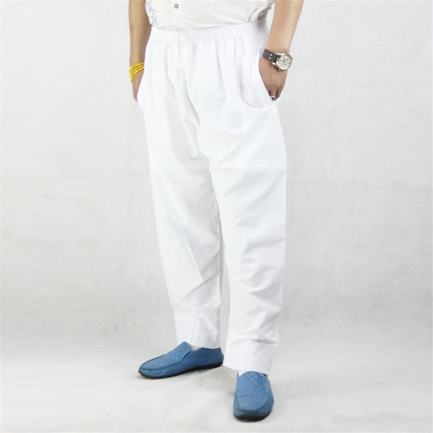 Muslim Pants for Men Cotton Solid Islamic Clothing Men Ramadan Wear Turkish,Dubai,Arabic Traditional Costumes Male Trousers