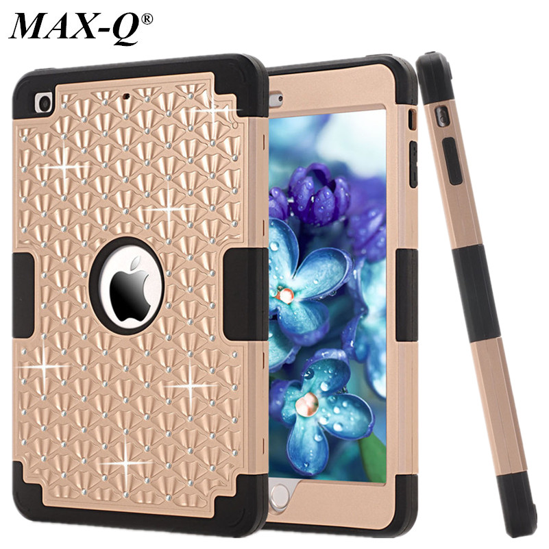 Para Coque iPad Mini Cover Case 2016 Colorful Hybrid Armor silicona + - Accesorios para tablets