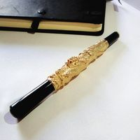Golden color quality ball pen 80g/pc sign pen for boss unique gifts for her birthday party gifts with gift box and free shipping