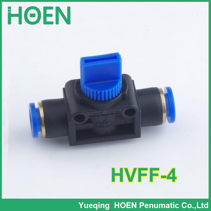 100 pcs HVFF10 pneumatic components HVFF series flow control hand valve 10mm tube pipe hose fitting