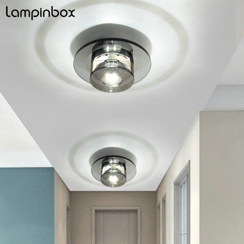 Современный минималистский Стекло Кристалл 5 Вт светодиодный потолочный светильник освещения Спальня Освещение в гостиную проход коридор ...