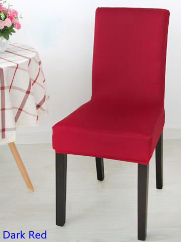 Dark Red Colour Spandex Lycra Chair Cover Fit For Square Back Home Chairs  Wedding Party Home
