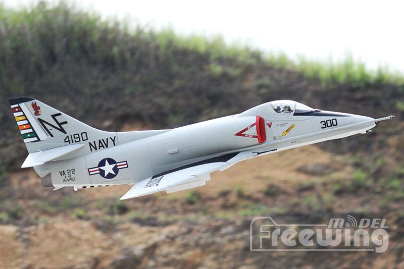 Wholesale- Freewing New 80mm EDF RC Jet A4 Sky Hawk PNP FJ213
