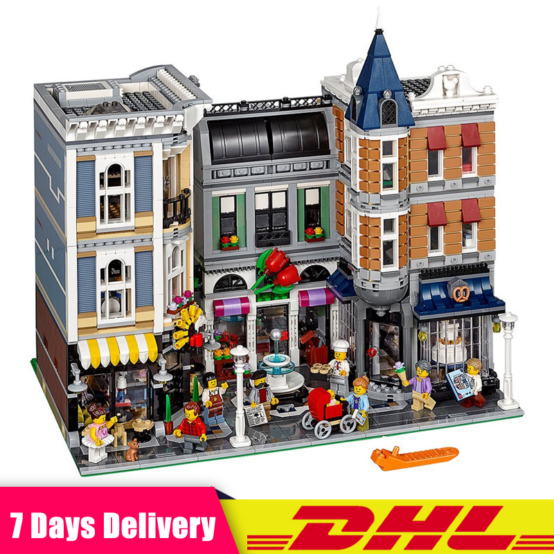 DHL IN STOCK Creator Expert ASSEMBLY SQUARE Building Blocks Model Bricks Compatible LegoINGlys 10255 1681pcs assembly blocks burj khalifa tower model toy diamond bricks kids gifts birthday present compatible creator 16 16 45cm