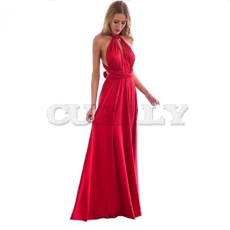 Women Sexy Long Party Dress Club Floor Length Summer Backless Bandage Maxi Dress Multiway Bridesmaids Boho Women Dress CUERLY in Dresses from Women 39 s Clothing