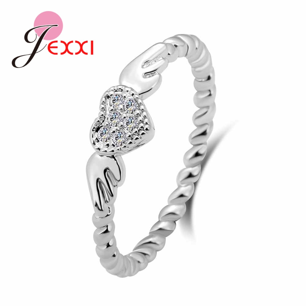 USA Seller Angel Wings Ring Sterling Silver 925 Best Price Jewelry Selectable