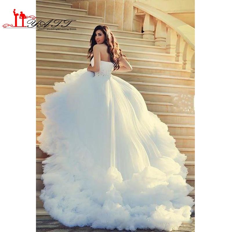 2016 Luxury White Cloud Wedding Dresses Beads Waist One Shoulder Ball Gown Dream Bride Dress Bridal Wedding Gowns Custom Gown Beaded Gown Dressgown Wedding Dress Aliexpress,Wedding White Satin Slip Dress