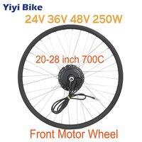 Electric Bicycle Conversion Kit 24V 36V 48V 250W Spoke Hub Motor Front Wheel For 20 24 26 28 E bike Part Without Battery
