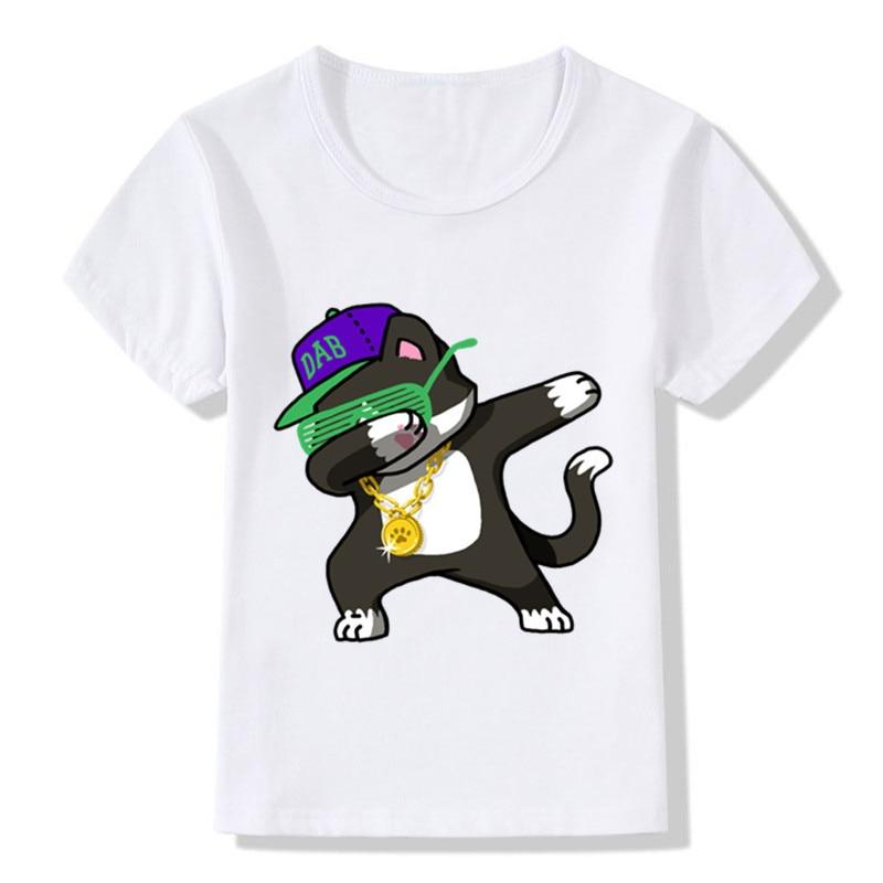 Летние Футболки для маленьких девочек и мальчиков короткий рукав с милой собачкой Panda Зебра кролик рубашка для детей Повседневное топы; фут...