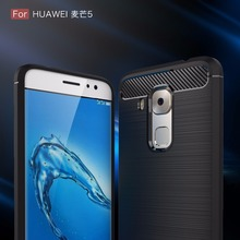 Novo smartphone cases para huawei maimang5, 100 pçs/lote, resistente armadura de fibra de carbono tpu capa protetora para huawei maimang5 caso