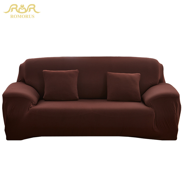 Romorus Solid Color Modern Elastic Sofa Cover Stretch Polyester