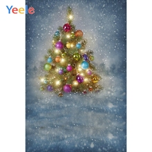 Yeele Christmas Photocall Bokeh Snow Lights Decor Photography Backdrops Personalized Photographic Backgrounds For Photo Studio