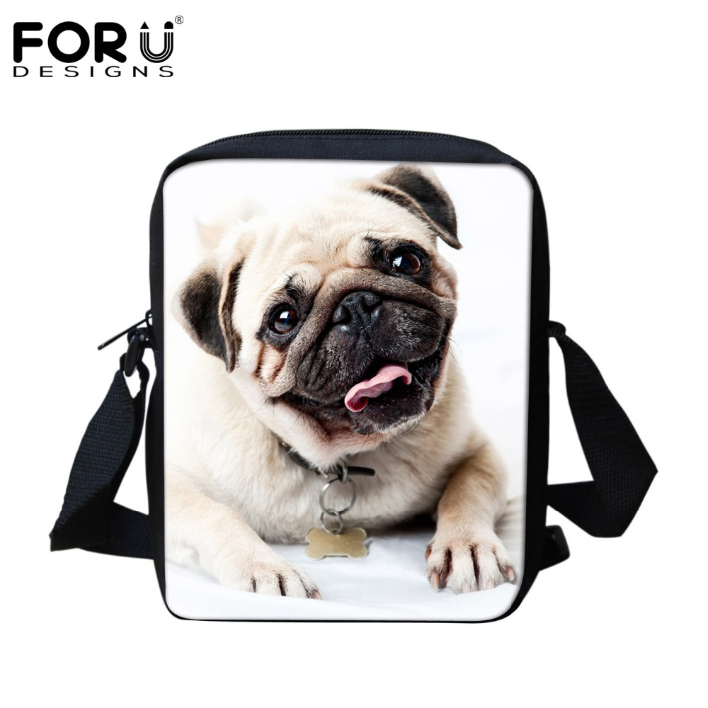 Small Size Fashion Pet Dog Cat Printed School Bags Shoulder Bag for Boys and Girls Cute Pug Schoolbag Kids Bookbag Mini Mochila