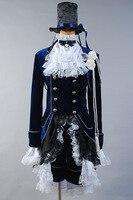 Black Butler Ciel Cosplay Costume Dark Blue Dress Halloween Party For Male