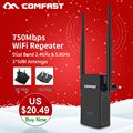 Comfast CF-WR750V2 Lange Klingelte Dual Band 750 Mbps Wifi Repeater Roteador 802.11AC Wireless Router 2,4 + 5,8 ghz Wi fi signal Verstärker